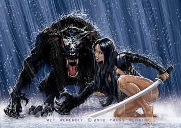 Wet Werewolf by FransMensinkArtist