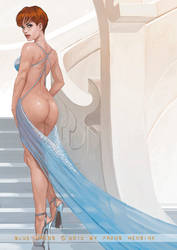 Blue Dress by FransMensinkArtist