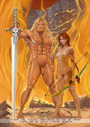 Xandr and Thelana by FransMensinkArtist
