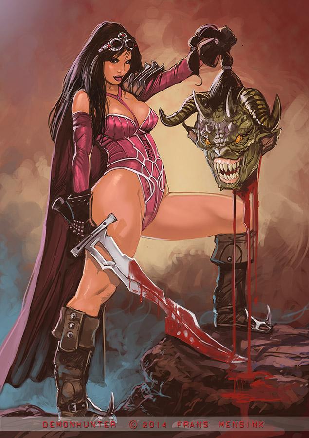 Demon hunter by FransMensinkArtist