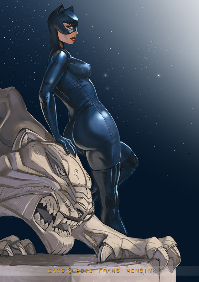 Catwoman once more by FransMensinkArtist