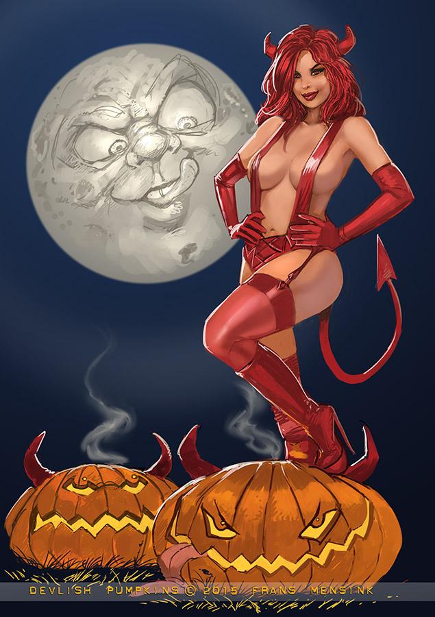 Halloweendemon by FransMensinkArtist