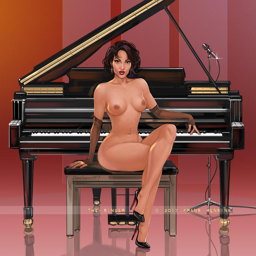 Nude Singer by FransMensinkArtist