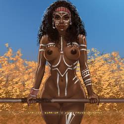 African Warrior by FransMensinkArtist