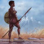 African Warrior 2 by FransMensinkArtist