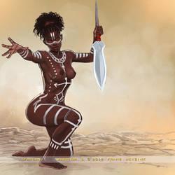 African Warrior 3 by FransMensinkArtist