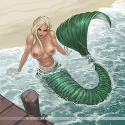 Blonde Mermaid by FransMensinkArtist