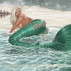 blonde mermaid too by FransMensinkArtist