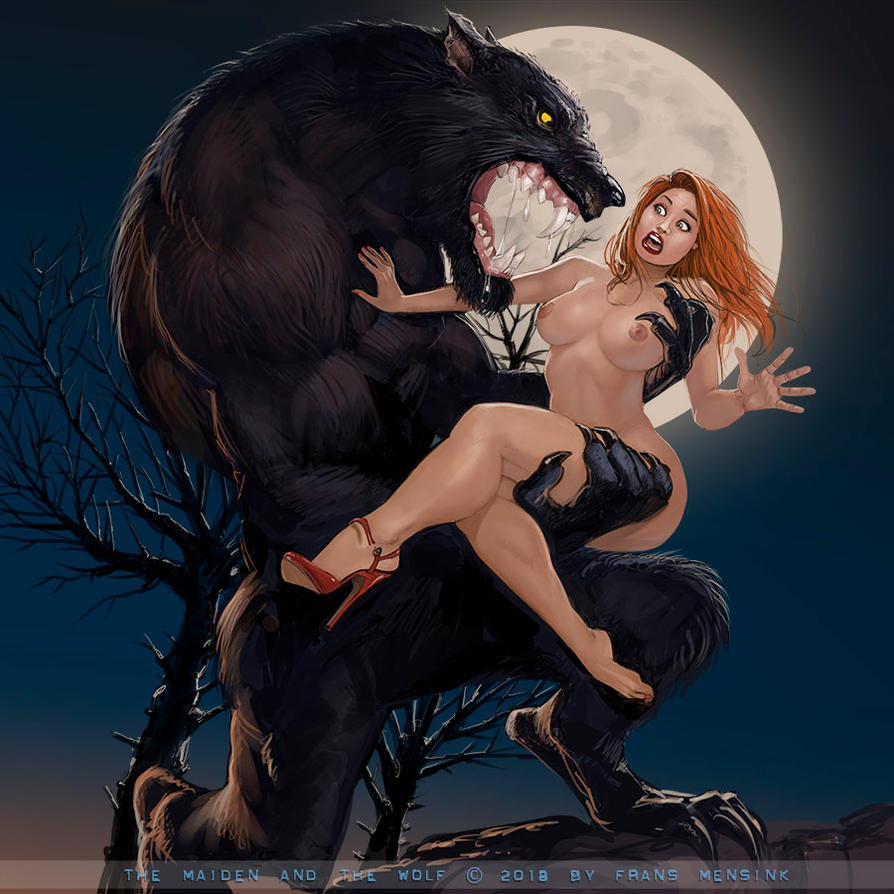 The wolf and the maiden by FransMensinkArtist