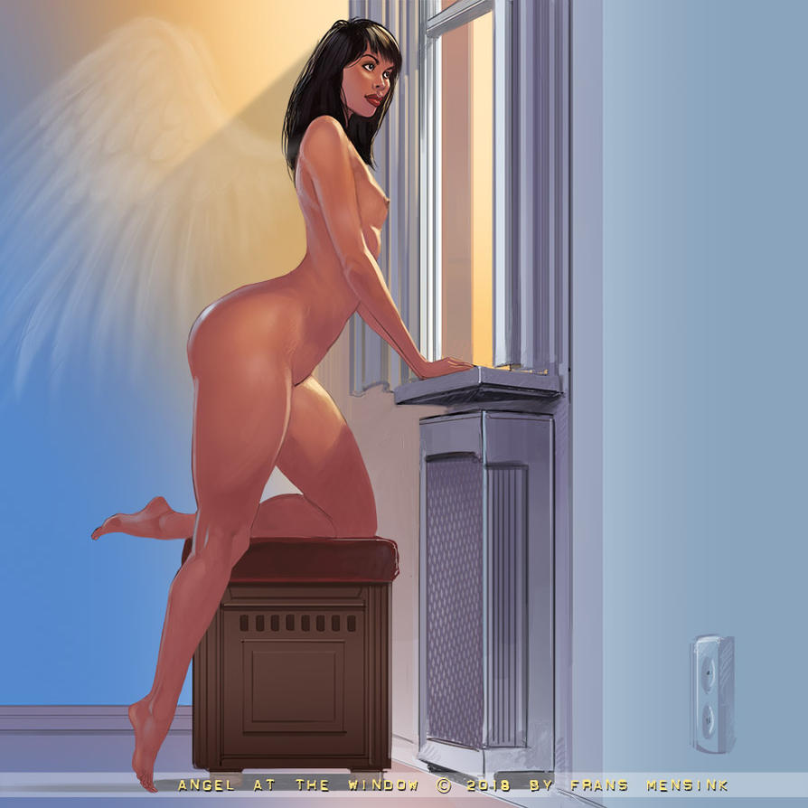 Angel At The Window by FransMensinkArtist