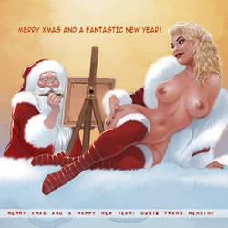 Santa Painting by FransMensinkArtist