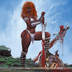 Black Sonja by FransMensinkArtist