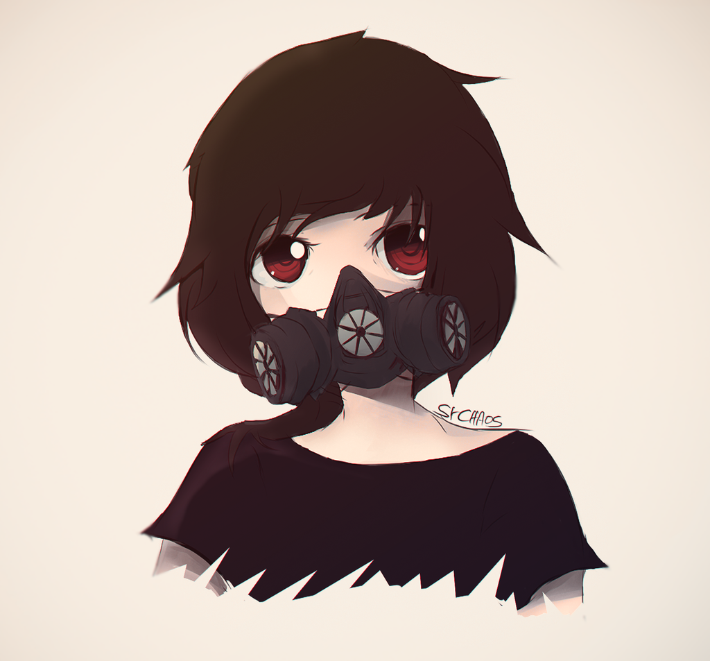 Gas mask anime by agustophack on deviantart - Anime girl with gas mask ...