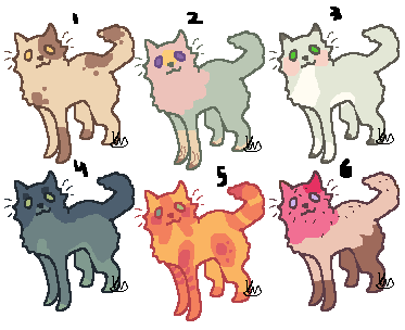 Fluffy cats adopts 01   OPEN by YEKKIW