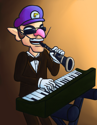 Waluigi Playing Both the Piano and Clarinet