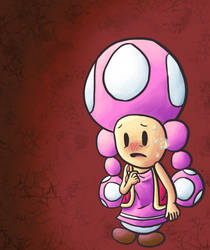 toadette is nervous