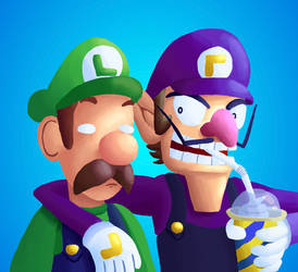 Waluigi and Luigi are the Best of Friends