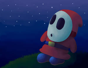 Shy Guy Looking at the Stars