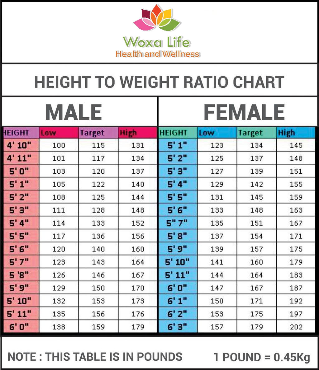 Height To Weight Ratio Chart By Atuls218 On DeviantArt