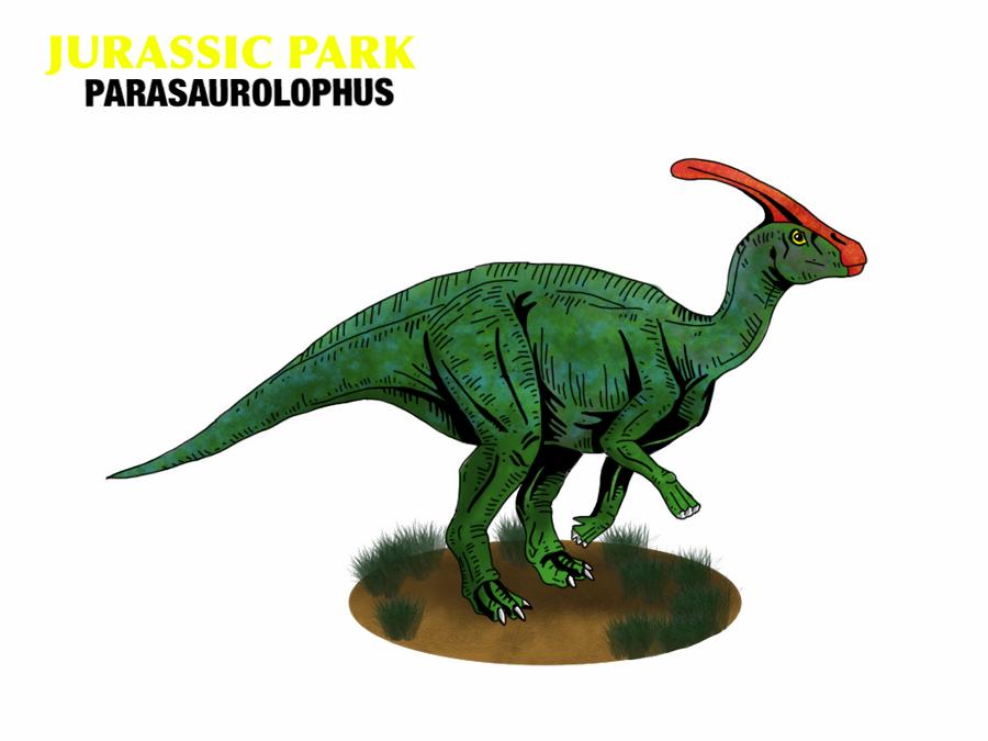 Jurassic Park - Parasaurolophus by Mr-Saxon on DeviantArt