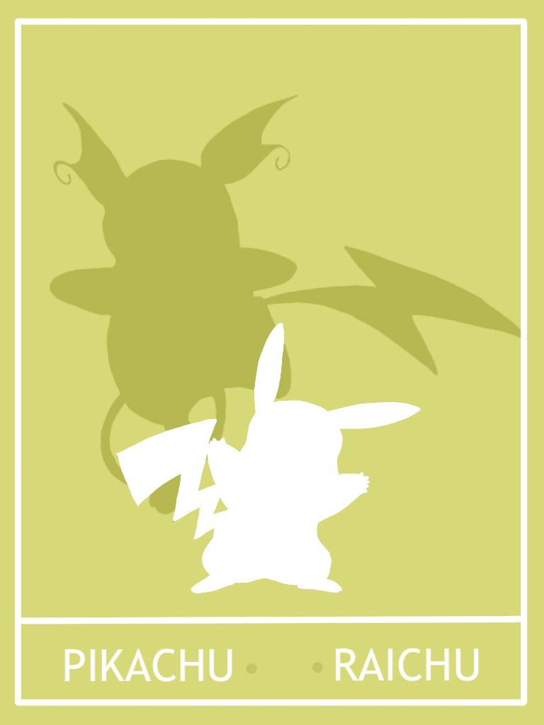Pokemon Pikachu - Raichu Minimalist Poster by Mr-Saxon