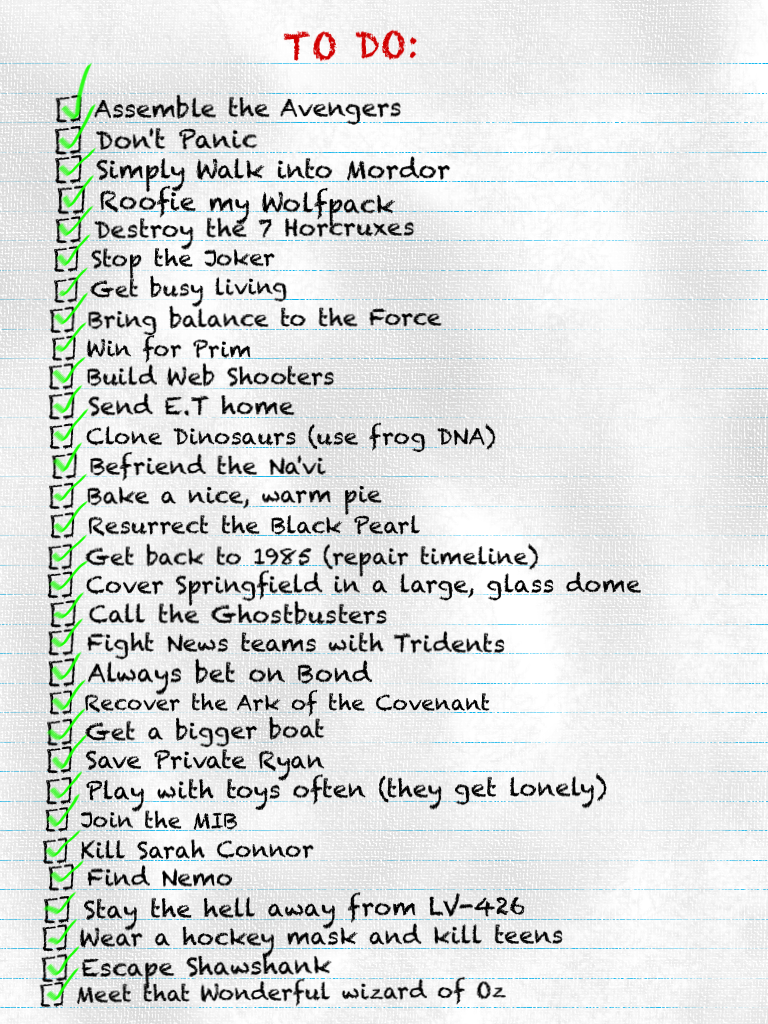 To Do List Movie List Images   Pictures   Becuo u9r1Hrqo