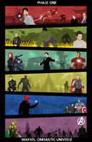 Marvel Cinematic Universe - Phase 1 Poster by Mr-Saxon