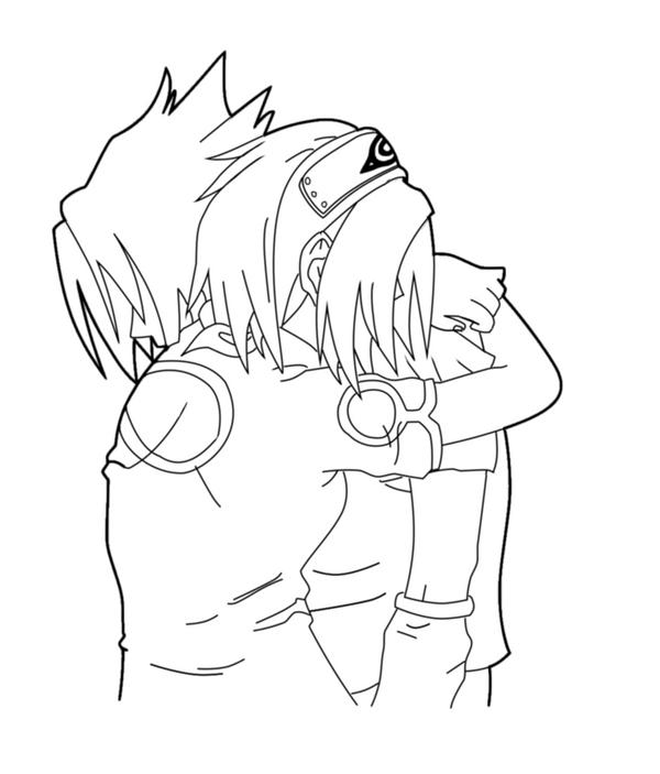 Sasuke And Sakura Coloring Pages Coloring Pages