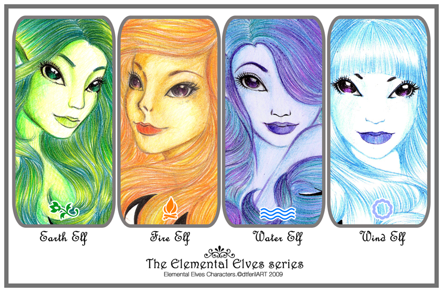 The Elemental Elves Series by darylferil