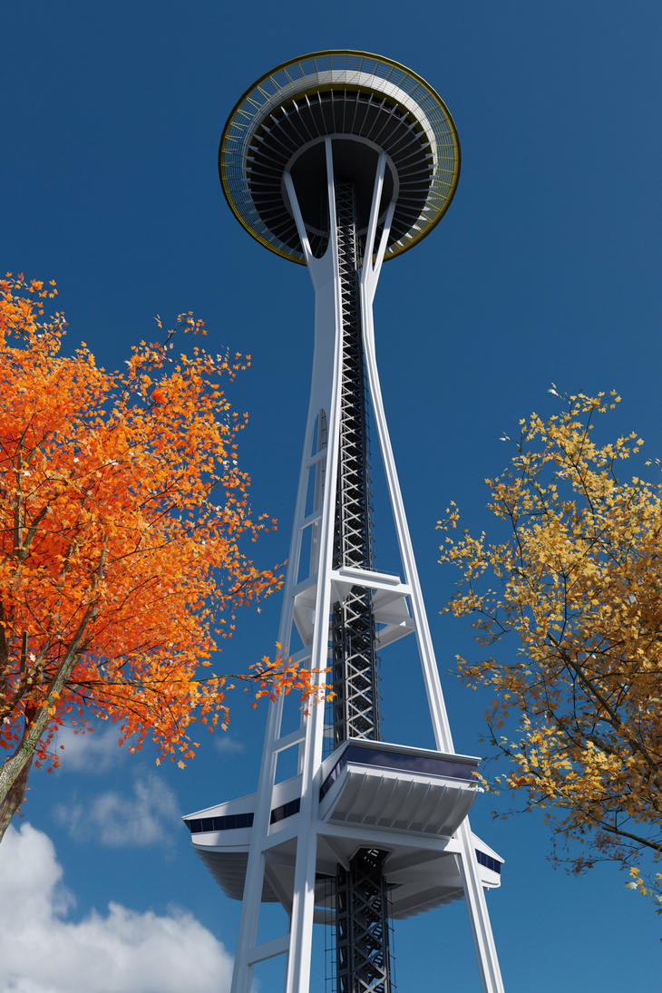 Assets - Seattle Space Needle by MikeVanecek