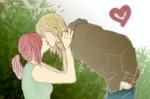 A kiss by burningblue95