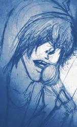 Grungy Vampire by burningblue95