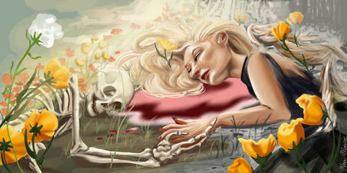 A Sleep Amongst the Flowers by MoxxiMonroe