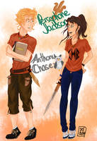 GenderBending Persephone Jackson and Anthony Chase by renkarts