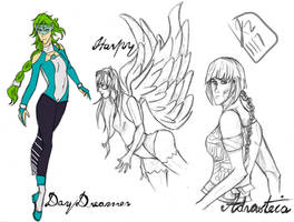 Requests:: DayDreamer, Harpie and Adrasteia by renkarts