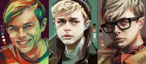 Dane Dehaan Color Palette Studies