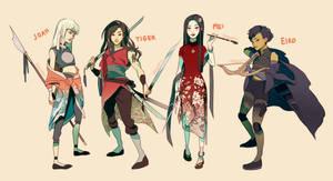 Bendai Character Designs