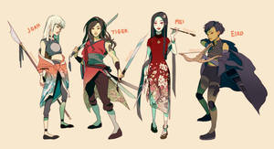 Bendai Character Designs