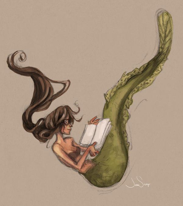 Nerdy Mermaid by jbsdesigns