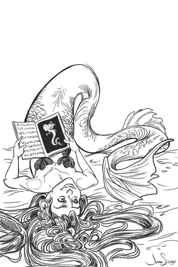 Mermaid Sketch by jbsdesigns