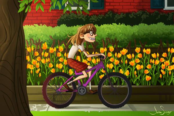 Biking Home by jbsdesigns