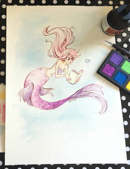 Mermaid Watercolor Illustration Video