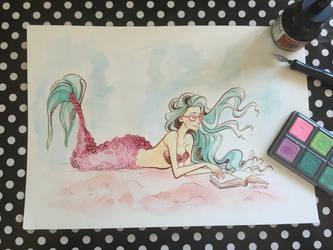 Mermaid #2 Watercolor Illustration Video