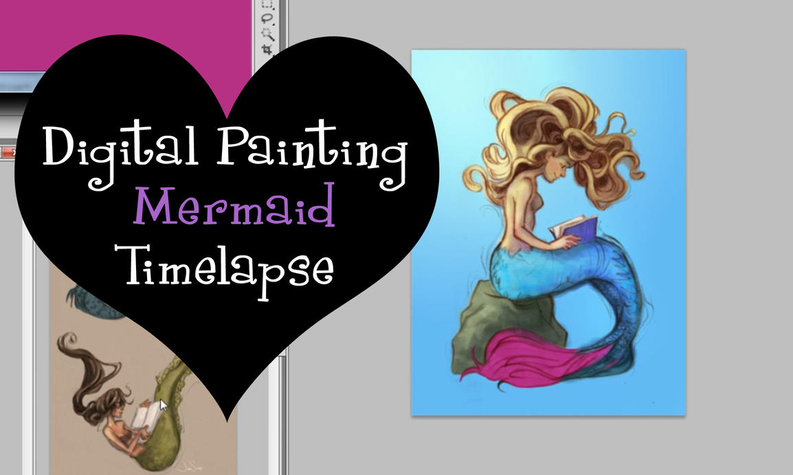 Digital Painting Mermaid Timelapse by jbsdesigns