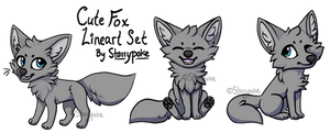 Cute Fox Lineart Set [Download]