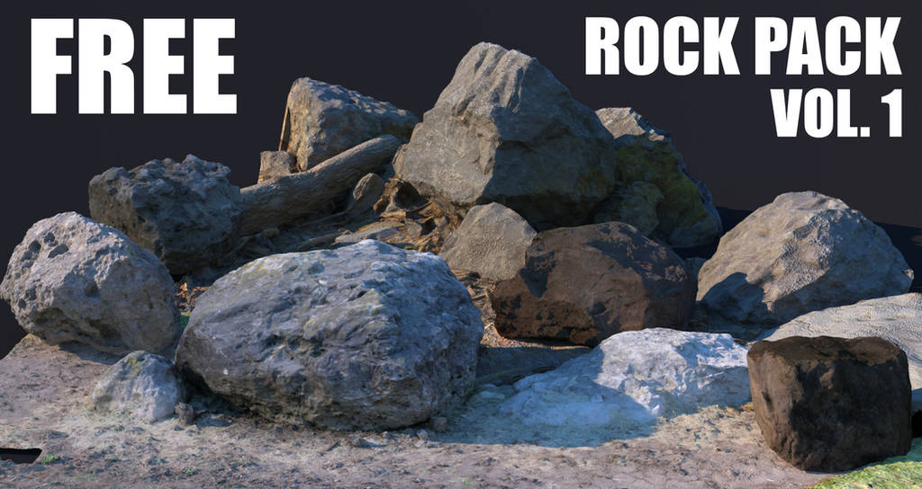 Free 3D Rock Pack by benchi