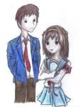 Haruhi + Kyon