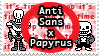 UT: Anti Sans x Papyrus / Fontcest by Sanstima-Stamps