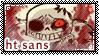 UT: Horrortale Sans || Fan Stamp by Sanstima-Stamps