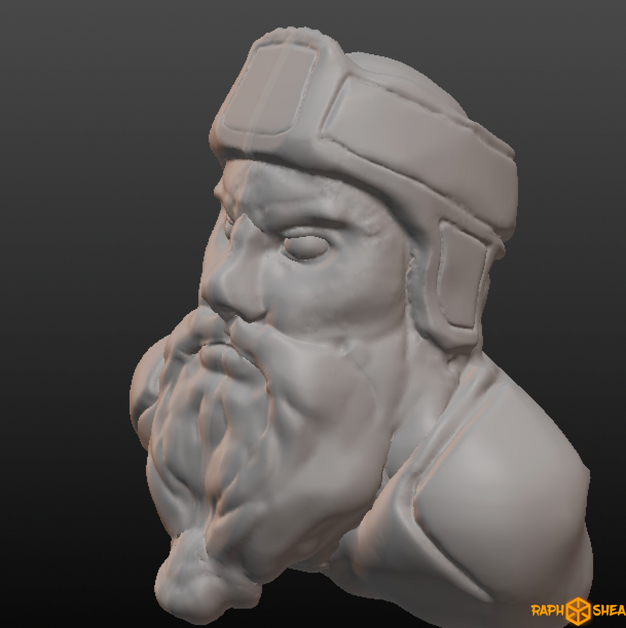 dwarf head WIP by RaphShea
